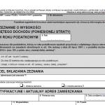 Opublikowano wzór formularza PIT-39 (7) za rok 2015 - PIT-39 wersja 7